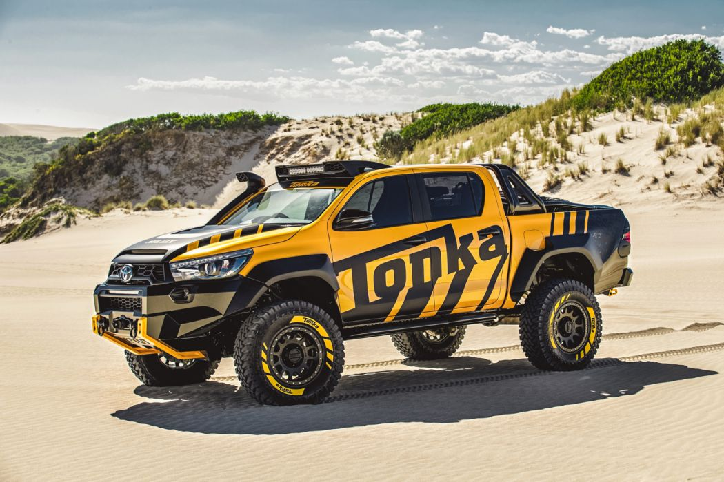 Hilux Tonka Concept Toyota 4x4 Double Cab Sr5 Custom Tuning Pickup Truck Wallpaper 2048x1365