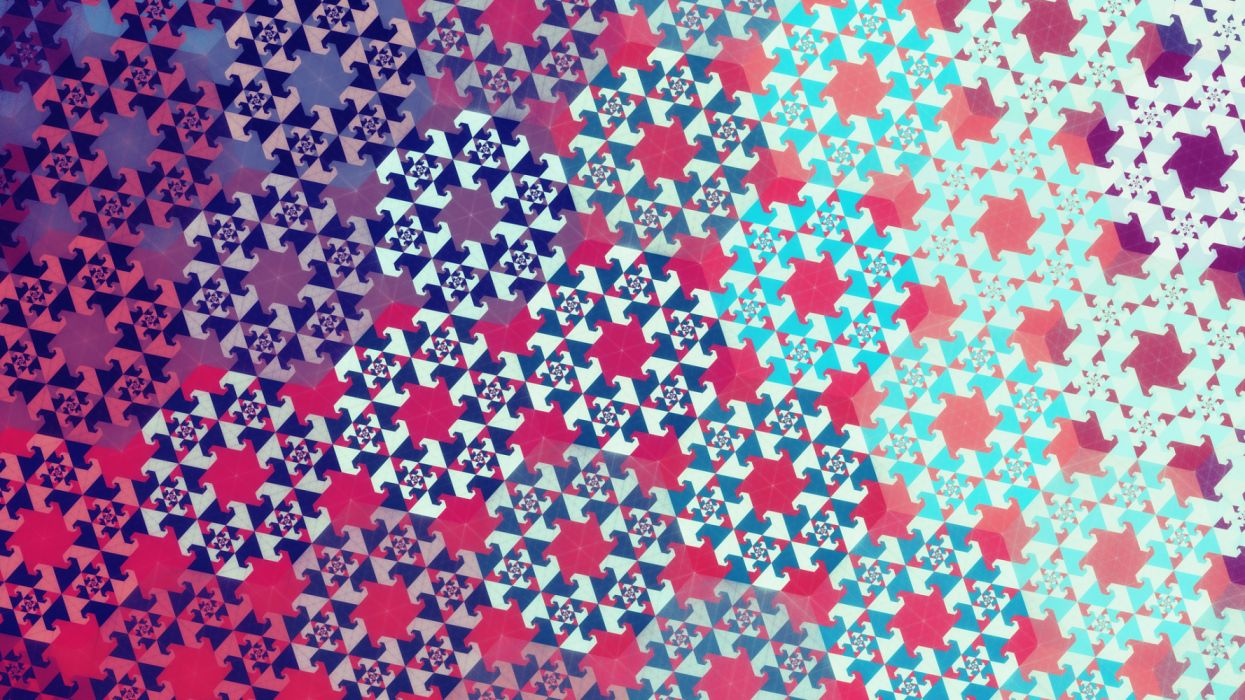 Artistic Digital Fractal Geometry Pattern wallpaper