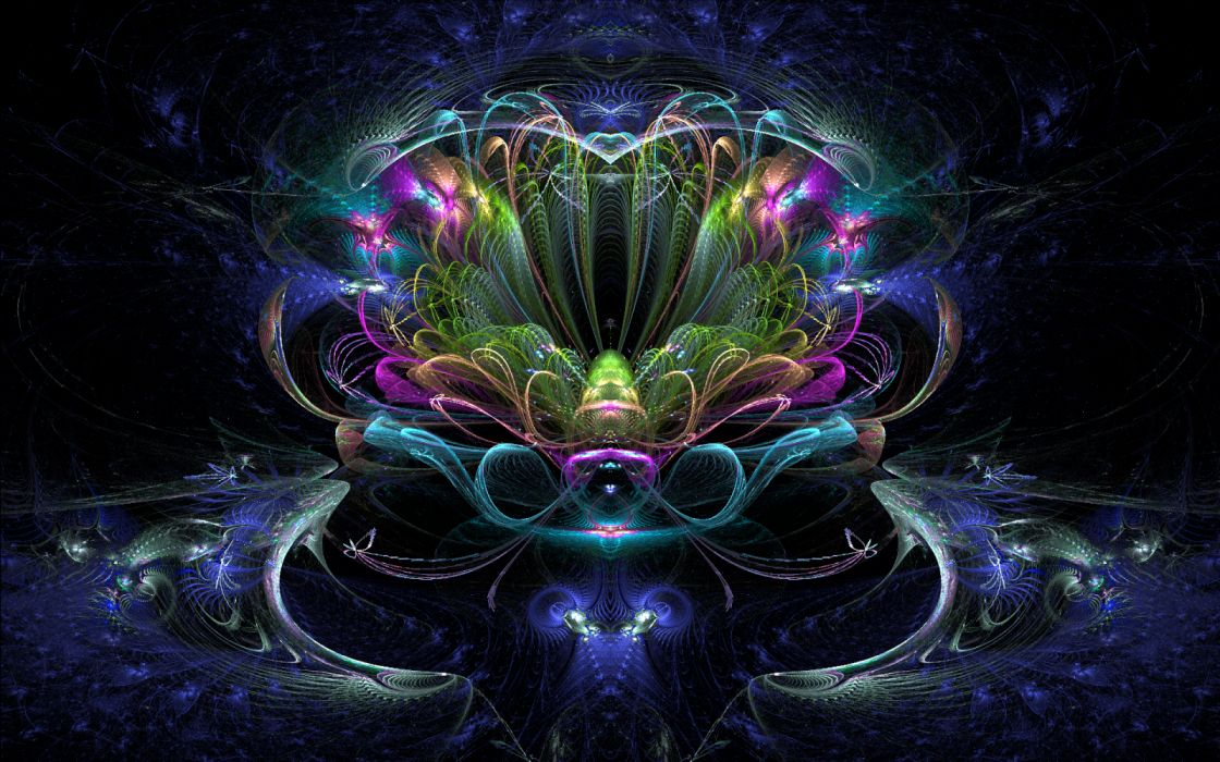 Abstract Colorful Fractal Neon wallpaper
