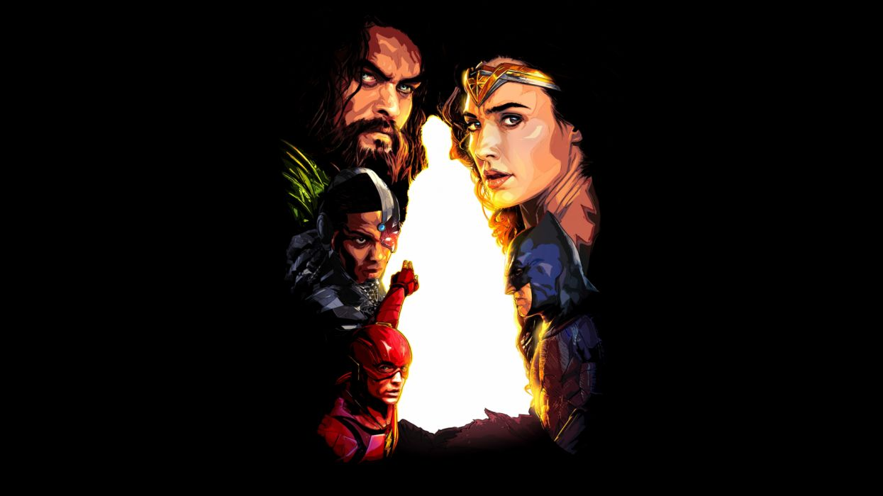 Aquaman Batman Ben Affleck Cyborg (DC Comics) Ezra Miller Flash Gal Gadot Jason Momoa Justice League Ray Fisher Superman Wonder Woman wallpaper