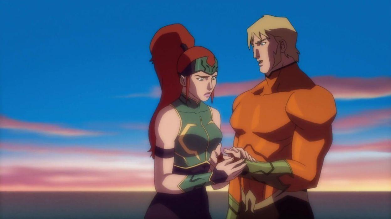 Aquaman DC Comics Justice League Throne of Atlantis Mera (DC Comics) wallpaper