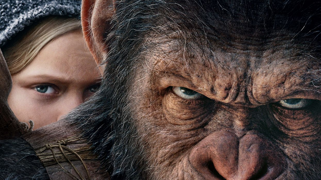 Amiah Miller Andy Serkis Caesar (Planet of the Apes) Planet of the Apes wallpaper