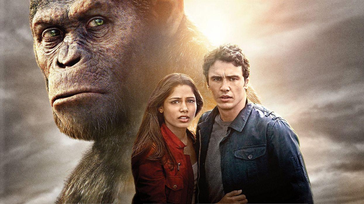 Andy Serkis Caesar (Planet of the Apes) Freida Pinto James Franco Rise Of The Planet Of The Apes wallpaper