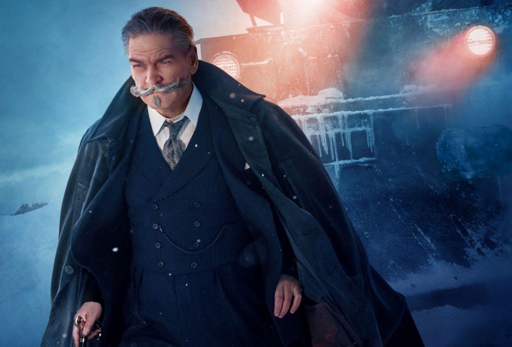 Detective Hercule Poirot Kenneth Branagh Murder on the Orient Express wallpaper