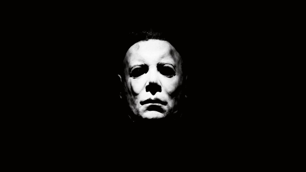 Black White Halloween 1978 Michael Myers Dark Horror Wallpaper