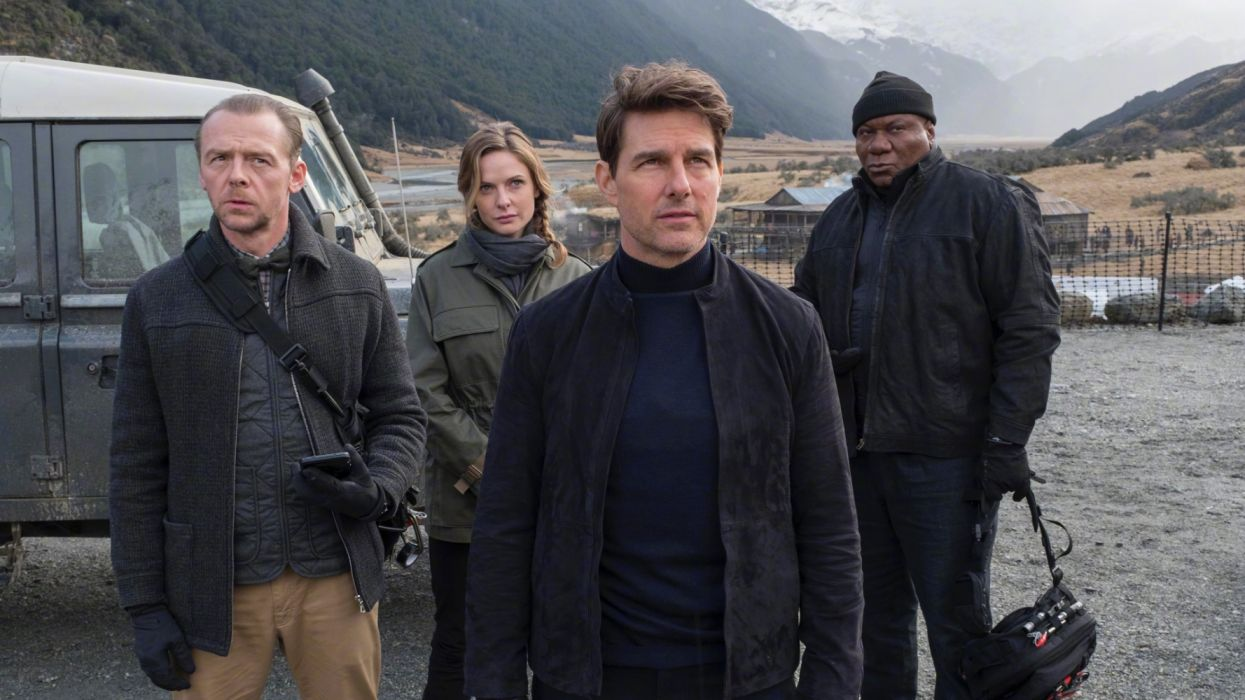 Benji Dunn Ethan Hunt Ilsa Faust Luther Stickell Mission Impossible Mission Impossible Fallout Rebecca Ferguson Simon Pegg Tom Cruise Ving Rhames wallpaper