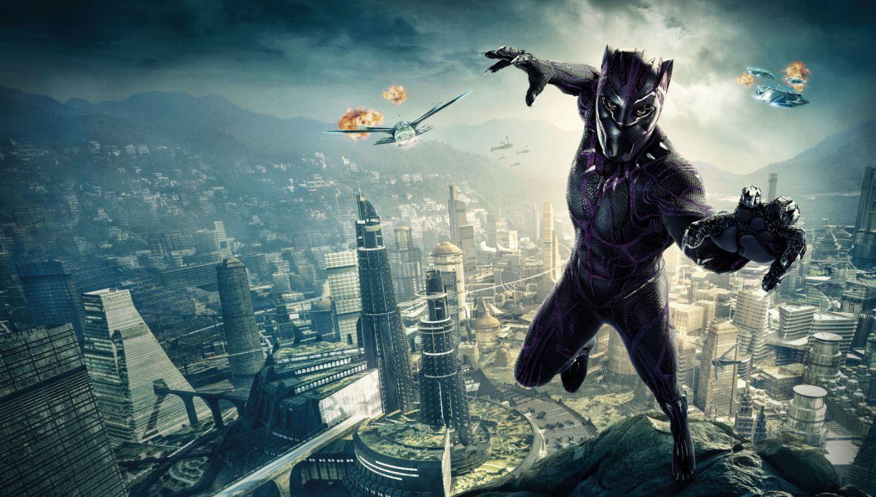 Black Panther Marvel Comics Black Panther Movie Chadwick Boseman Superhero Wallpaper 9172x5205 1210323 Wallpaperup