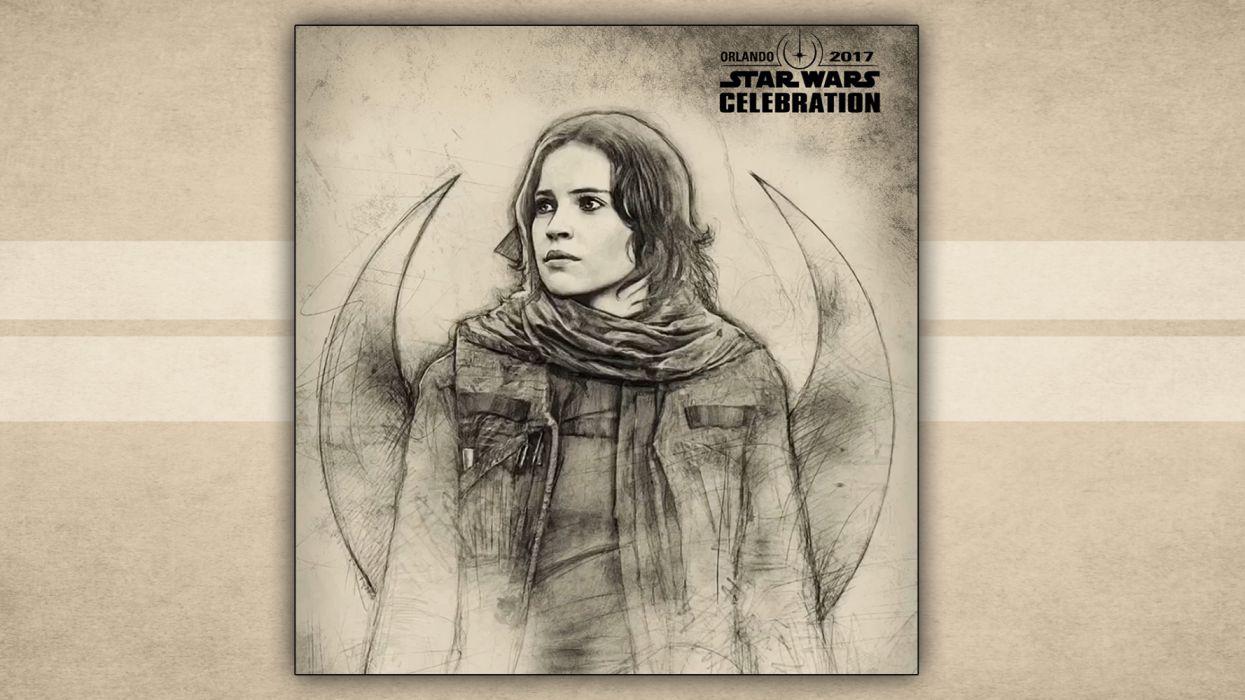 Badge Art Jyn Erso Star Wars Star Wars Celebration Wallpaper