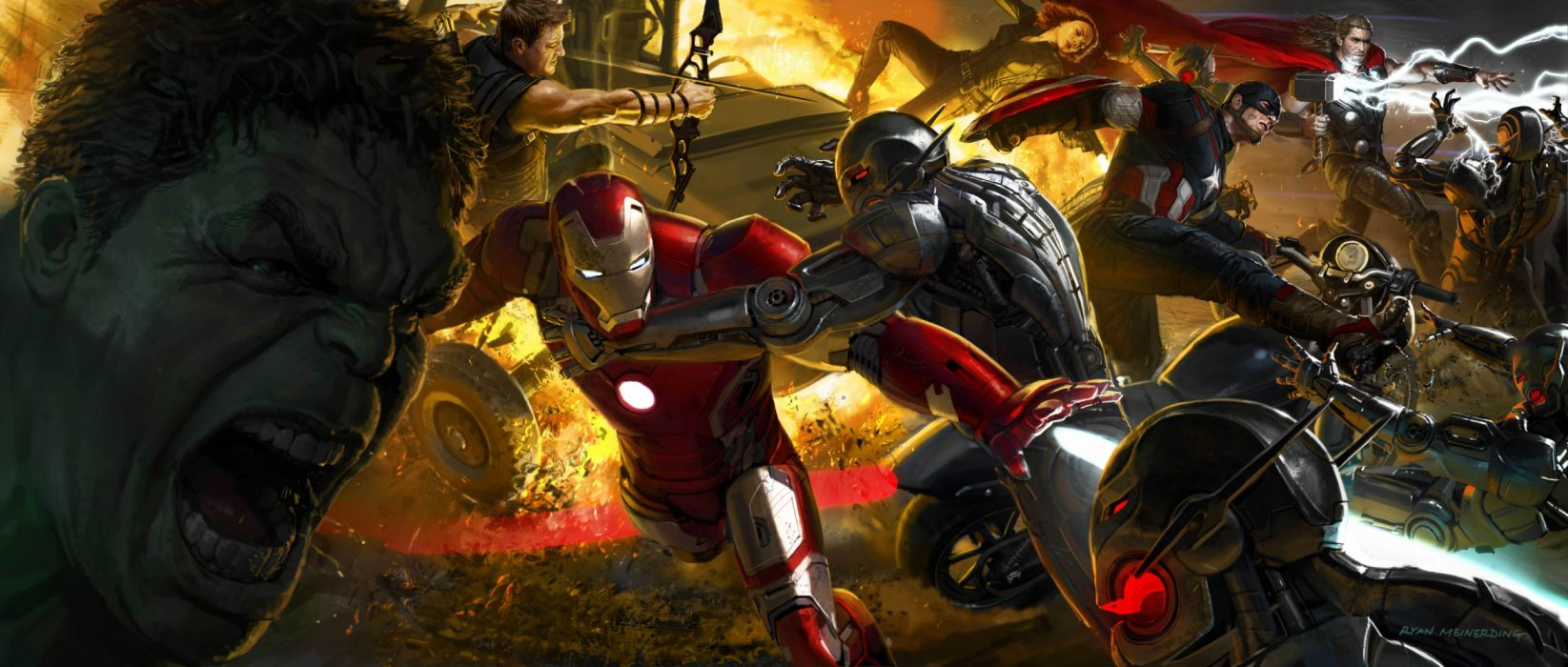Avengers Black Widow Captain America Hawkeye Hulk Iron Man