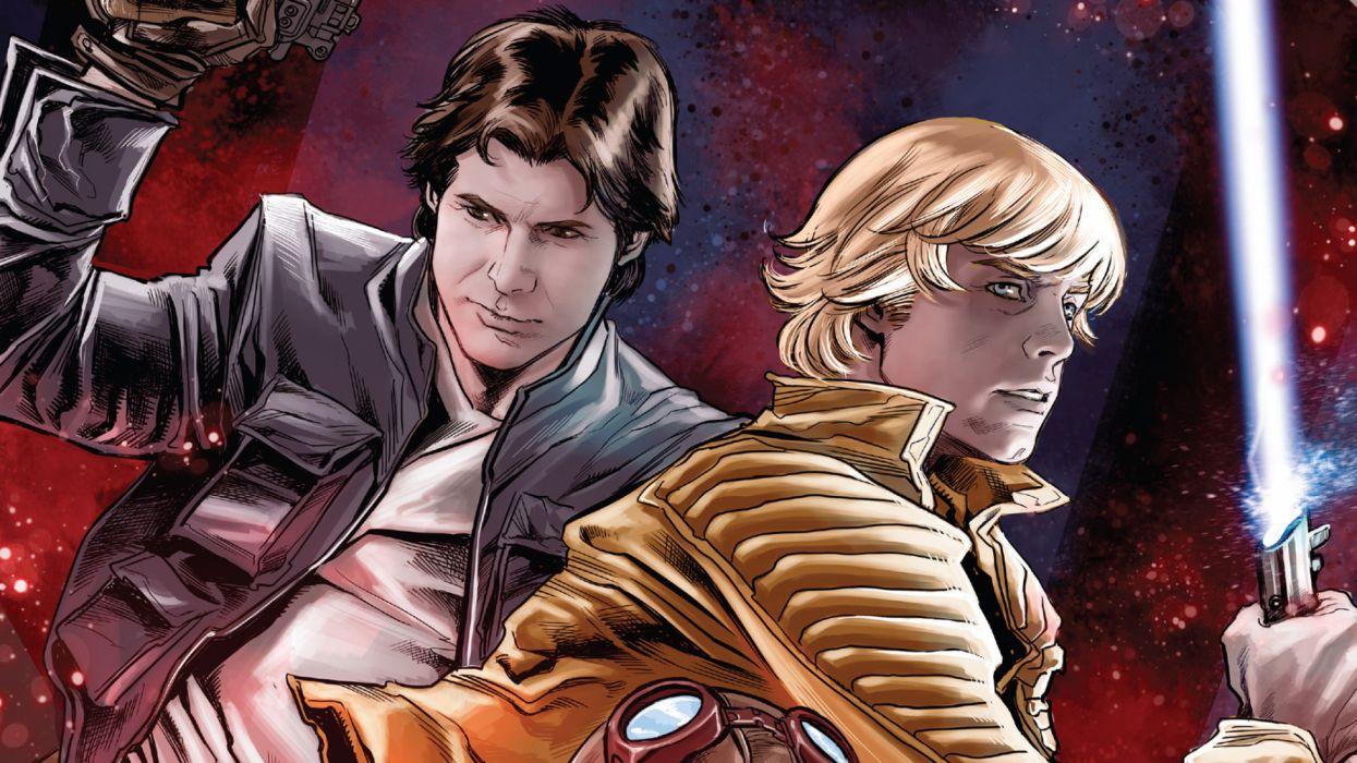 Han Solo Jedi Luke Skywalker Marvel Comics Star Wars Wallpaper