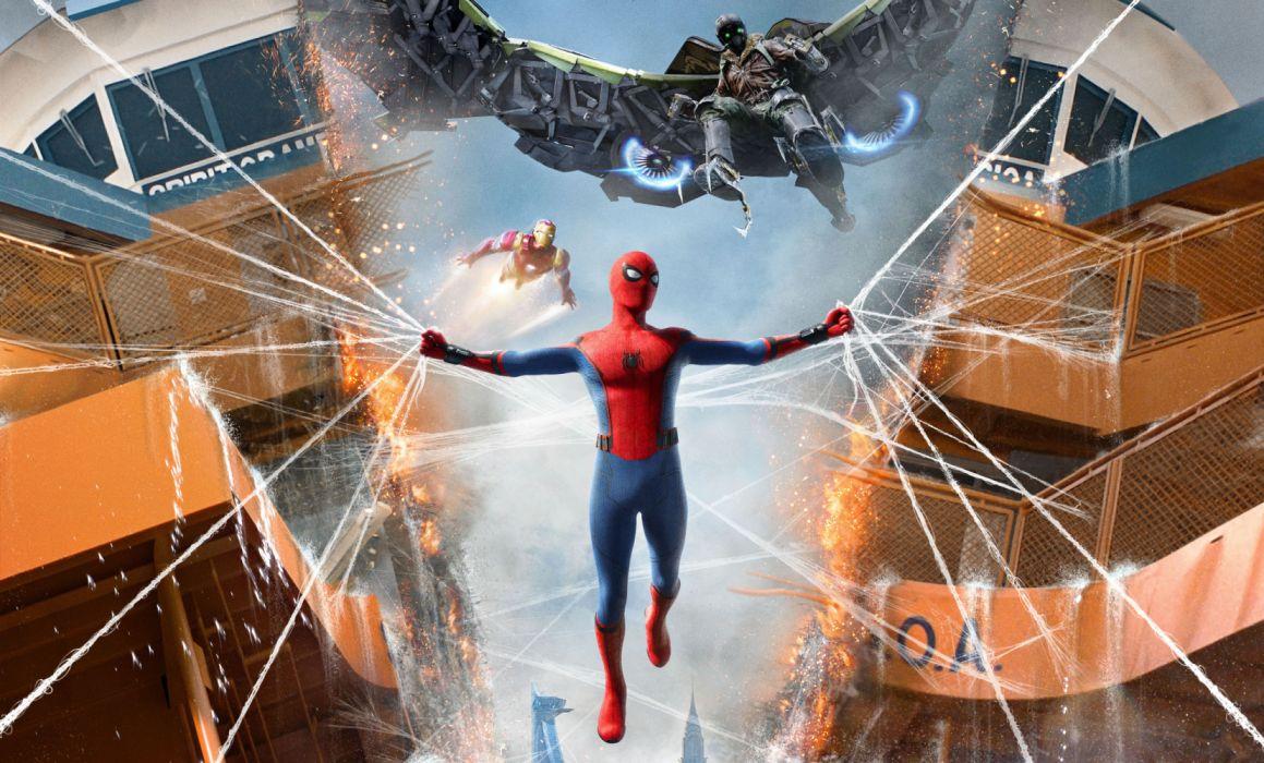 Iron Man Spider-Man Spider-Man Homecoming Vulture (Marvel Comics) wallpaper