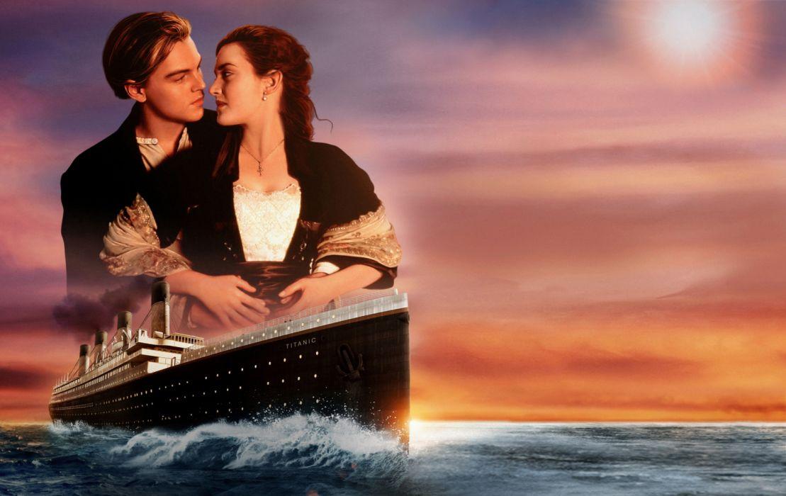 Kate Winslet Leonardo Dicaprio Titanic c wallpaper