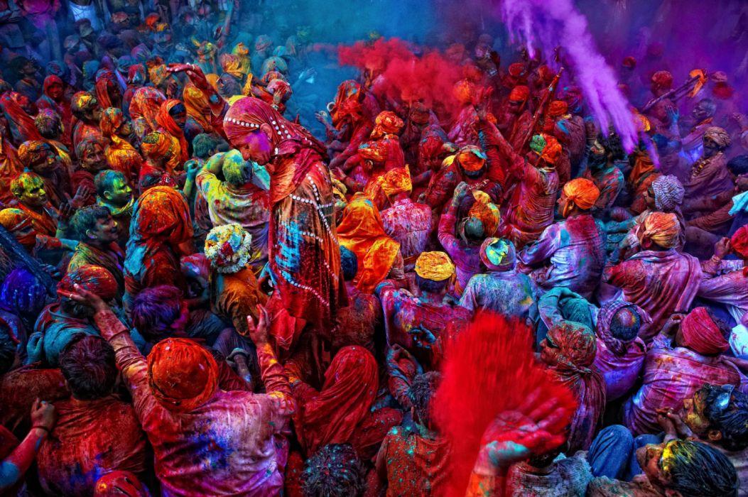 HOLI HOLIDAY Hindu Spring Festival Hindi India Color Colours Wallpaper