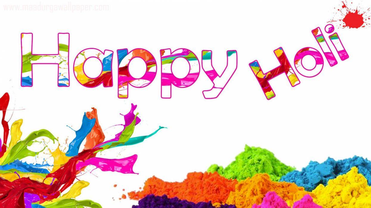 HOLI FESTIVAL Hindu spring huliday hindi india color colours wallpaper
