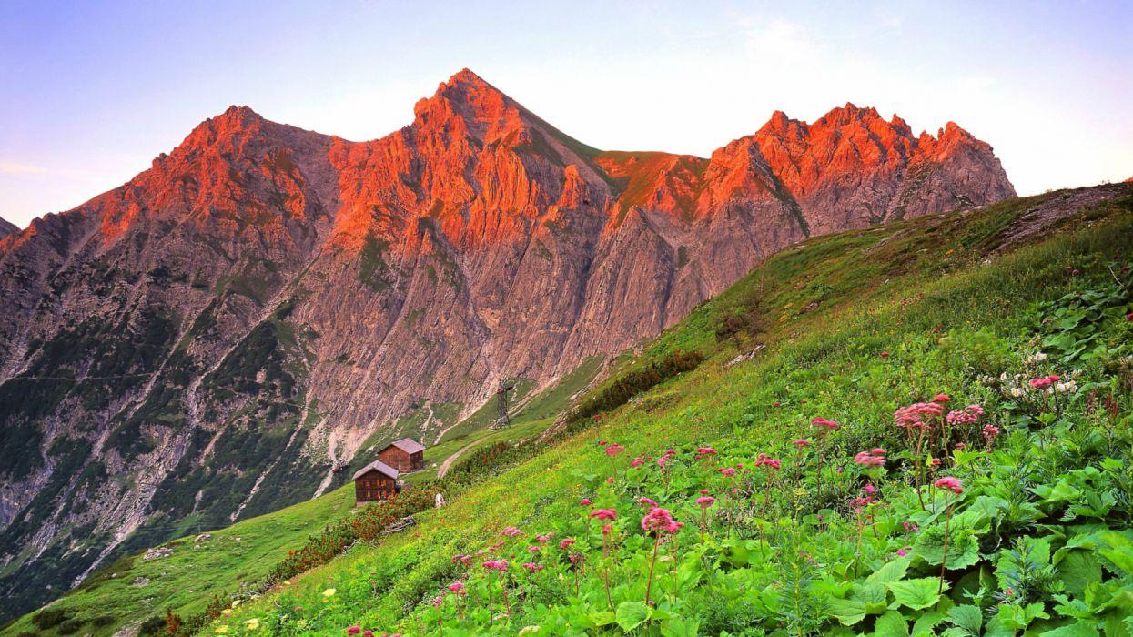 austria brandnertal grass mountain slope 104430 3840x2160 wallpaper