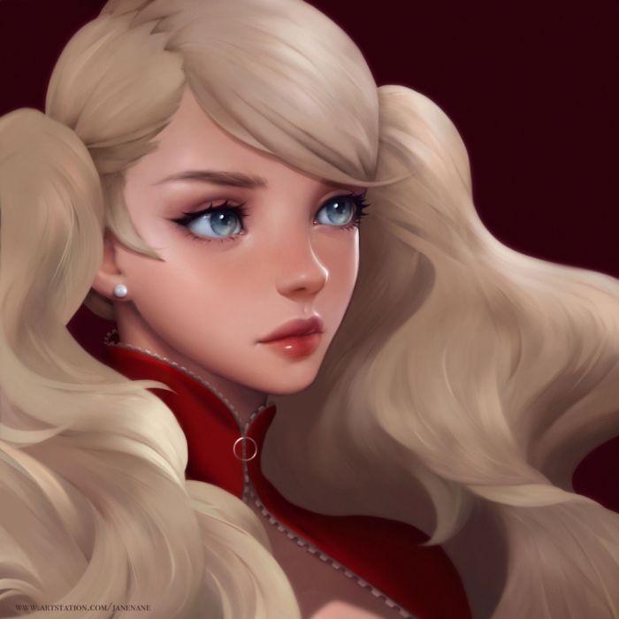 jane-nane-ann beautiful girl blue eyes fantasy blonde wallpaper
