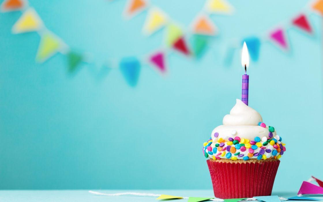 Birthday Candle Cupcake wallpaper