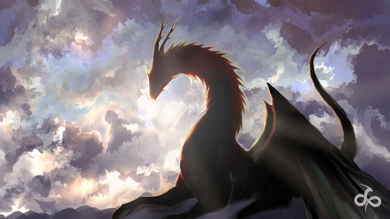 Cloud dragon wallpaper 3840x2160 1230554 wallpaperup - Fantasy wallpaper digital art ...