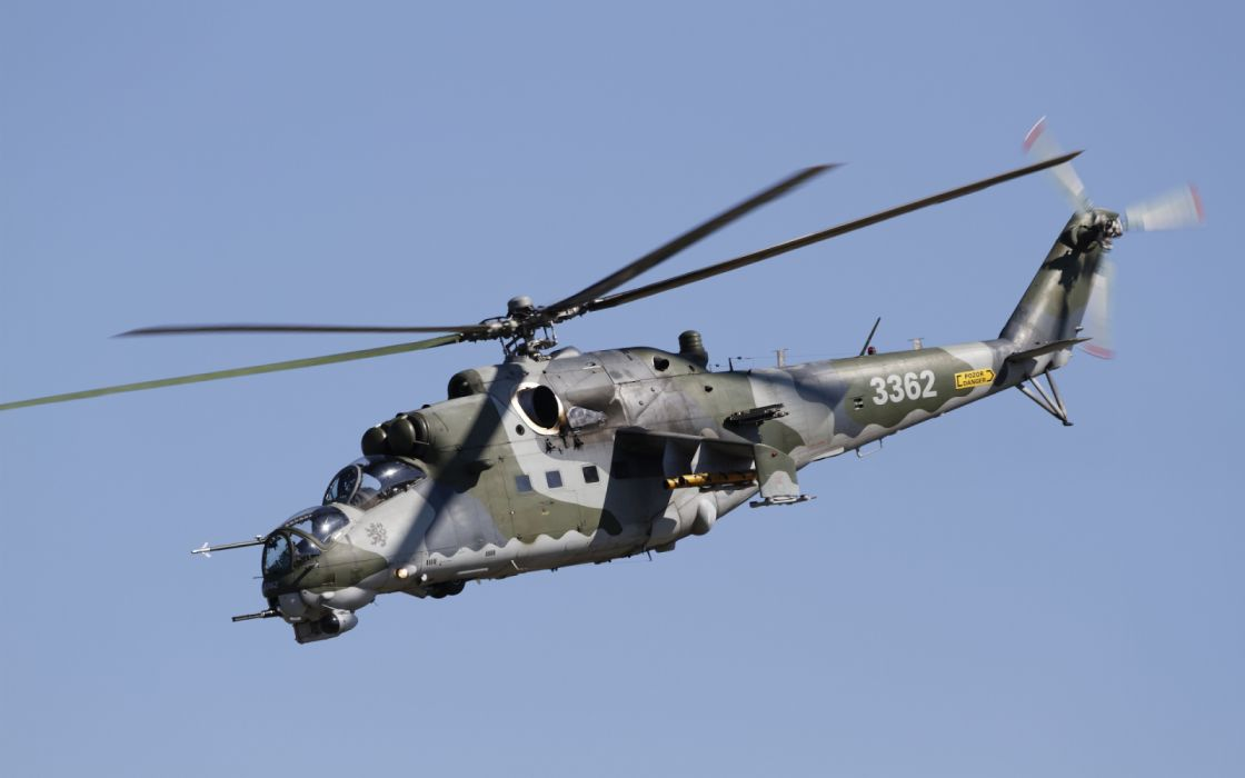 Aircraft Attack Helicopter Helicopter Mil Mi-35 wallpaper
