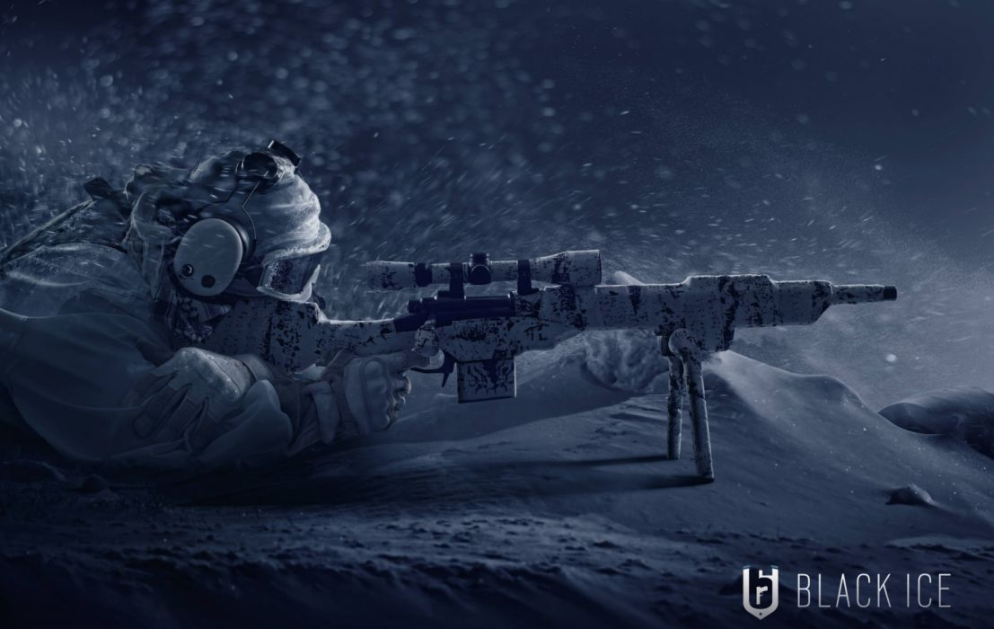 Firearm Gun Sniper Snow Soldier Tom Clancys Rainbow Six Siege wallpaper