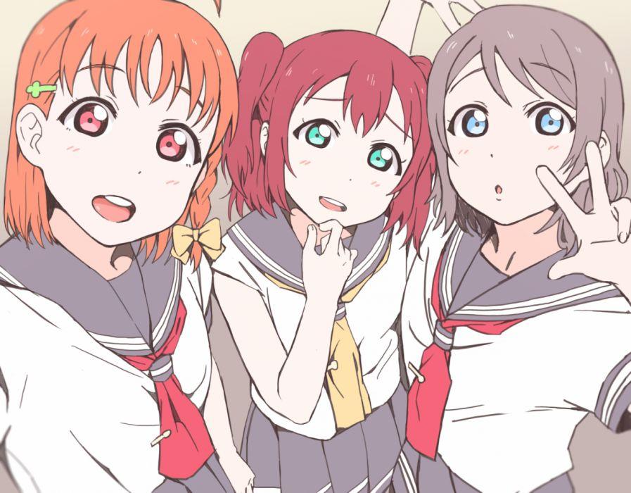 Love Live Sunshine Takami Chika Kurosawa Ruby Watanabe You CYaRon wallpaper