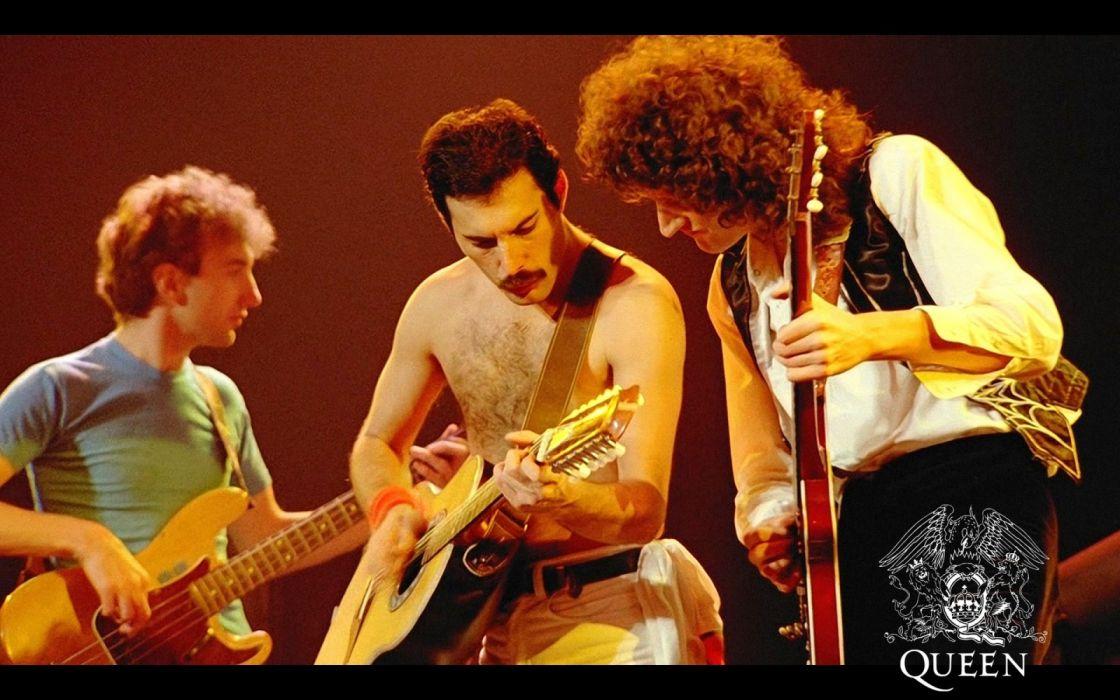 queen band members concert action music wallpaper