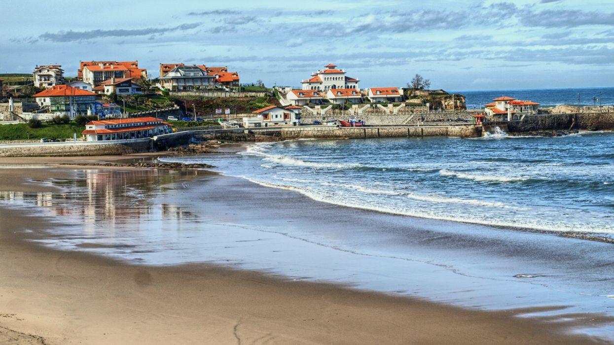 pueblo costero playa hoteles casa wallpaper