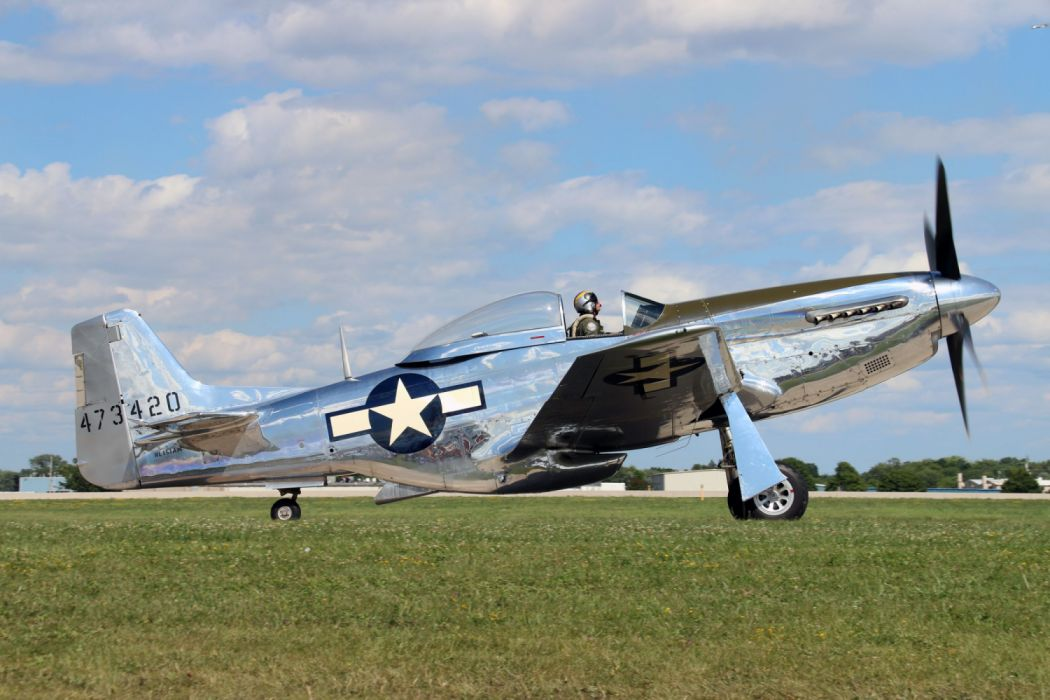 P 51 Mustang Airplane Aircraft Vehicle Air Force Airforce Plane