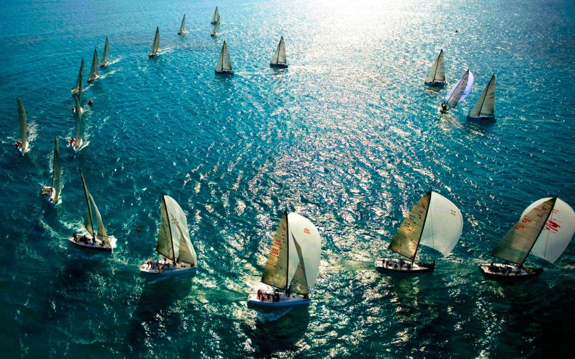 regatas barco veleros deportes wallpaper