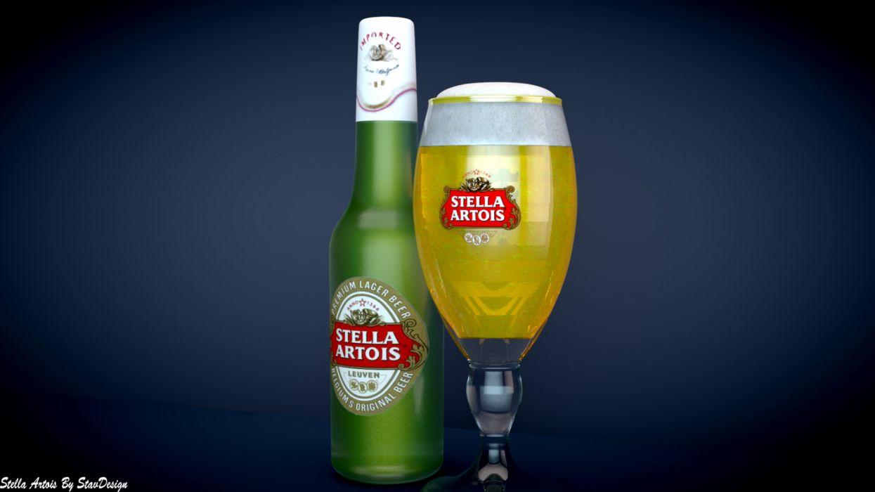 stella artois copa botella vidrio wallpaper