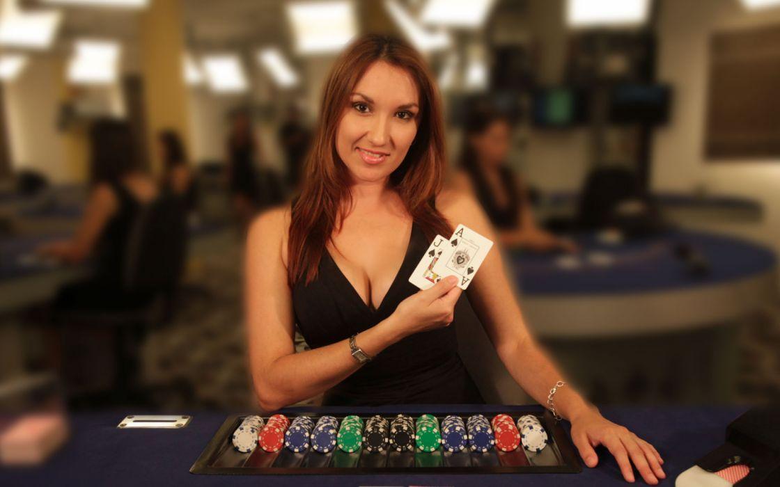 mujer juego casinos naipes fichas clasicos juegos wallpaper