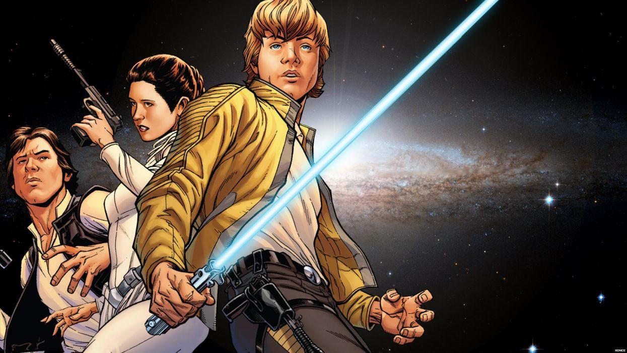 Luke Skywalker Han Solo Princess Leia Artwork X9 Comic