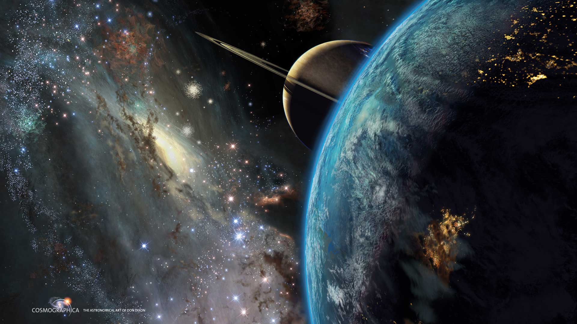 andromeda galaxy planets - HD1920×1080