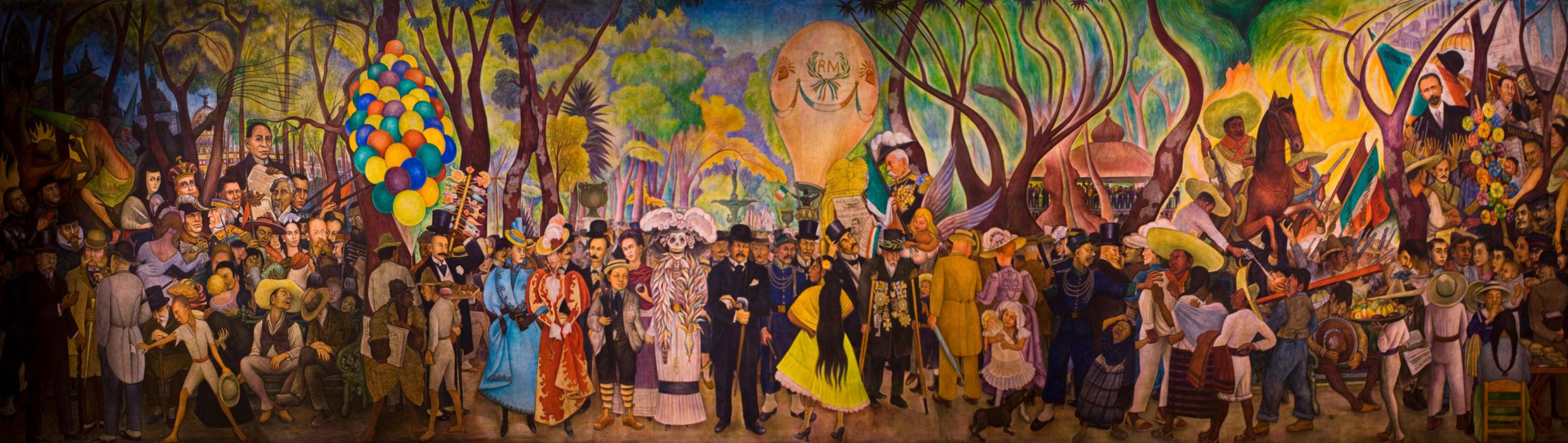Dream of a Sunday Afternoon in Alameda Park by Diego Rivera wallpaper