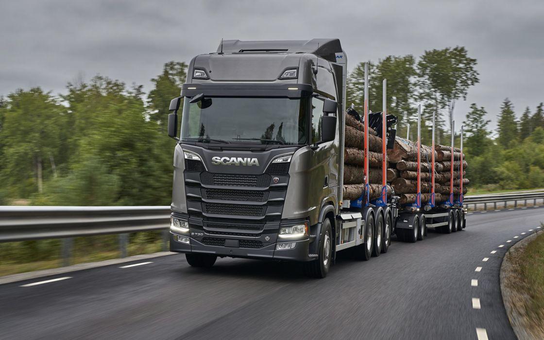 0570221c3f987 Trucks Scania S 730 Grey trunks wallpaper
