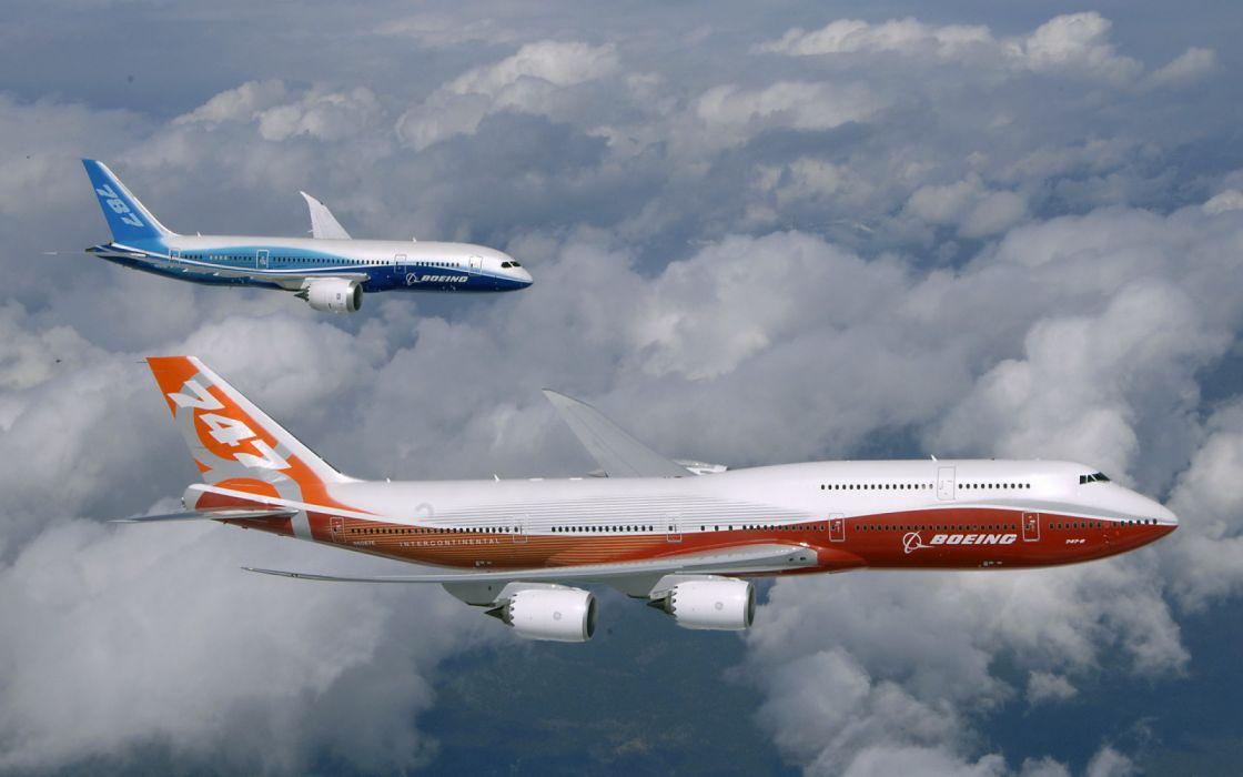 Boeing 774 Boeing 787 Aviones Civiles Vuelo Wallpaper