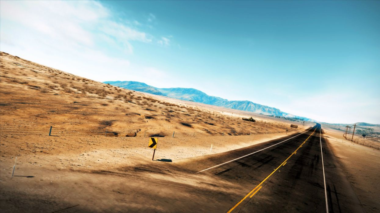 Road Daytime Desert Empty Road Wallpaper wallpaper