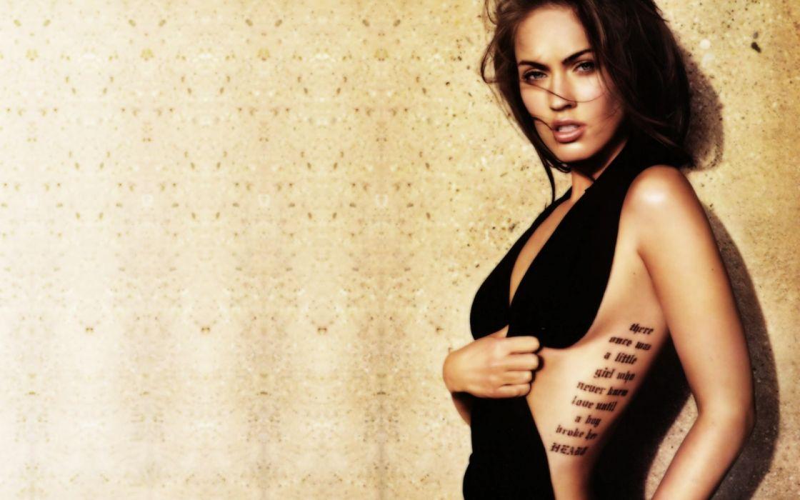 megan fox tatoo actriz celebrities wallpaper