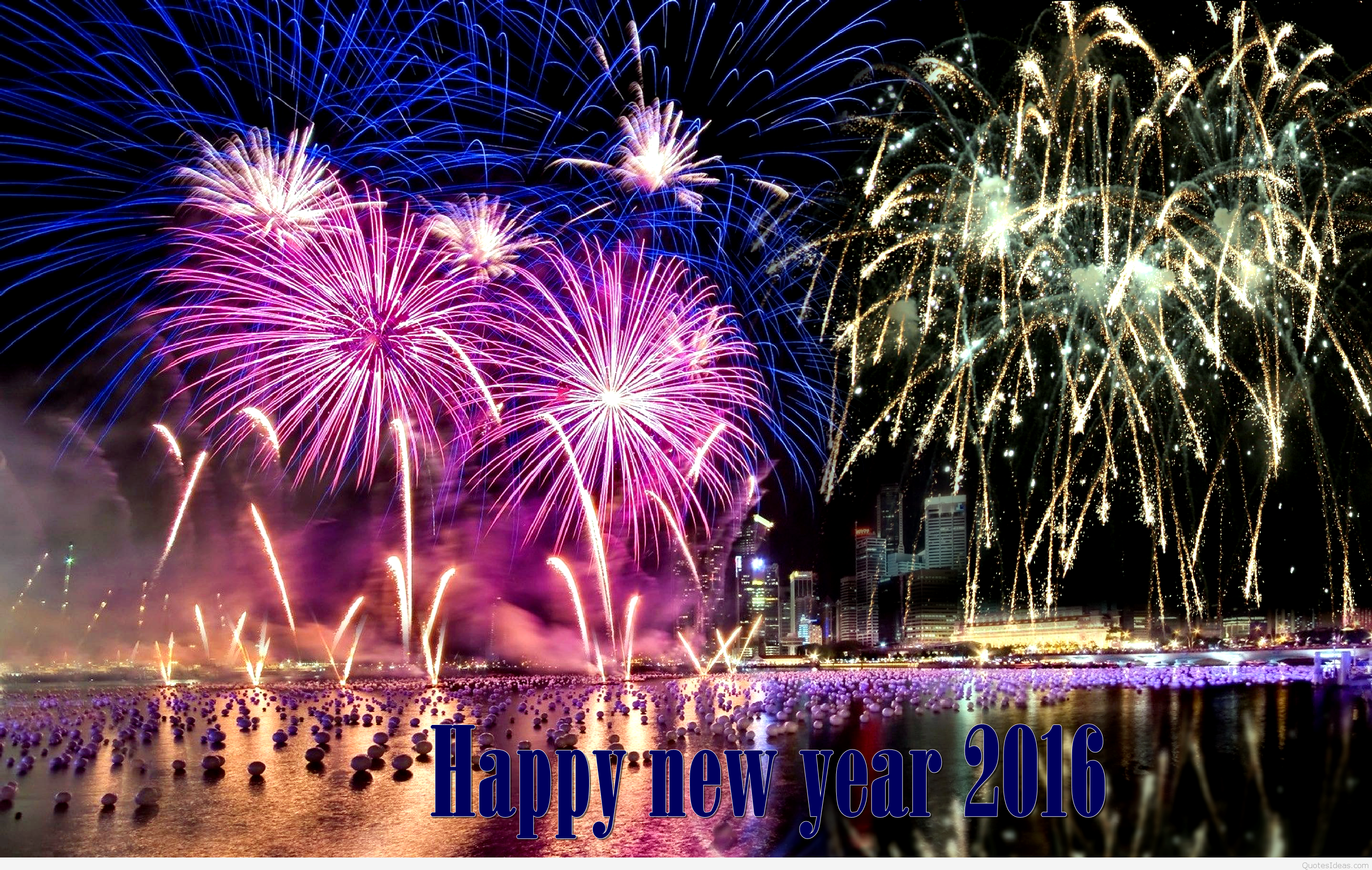 Happy New Year 2015 CountDown Celebration Fireworks Wallpaper