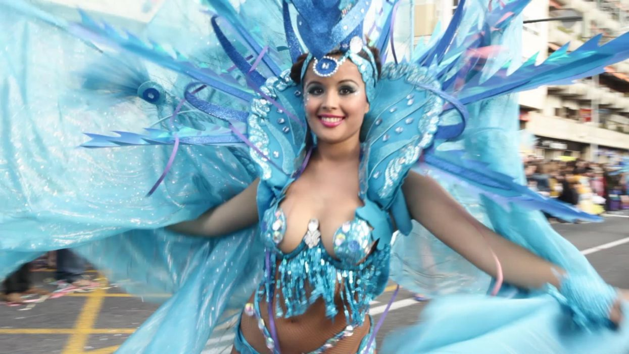 mujer carnaval baile holiday wallpaper