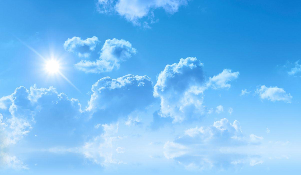 cielo azul nube blanca naturaleza wallpaper
