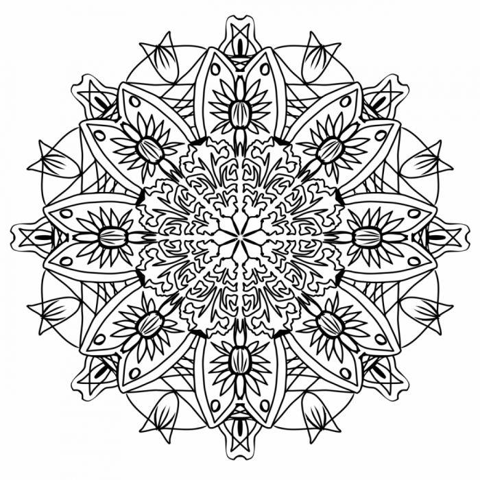 drawing flowers symmetrical cool wallpaper