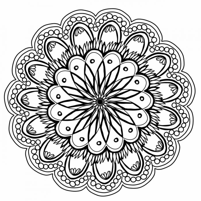 flower design relaxing and symmetry drawing wallpaper