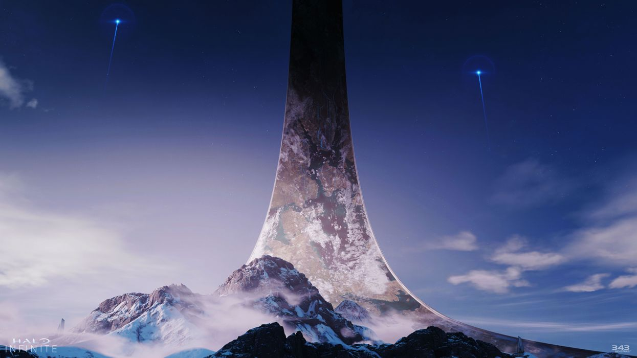 Halo Infinite Ring Night E3 343 Industries wallpaper