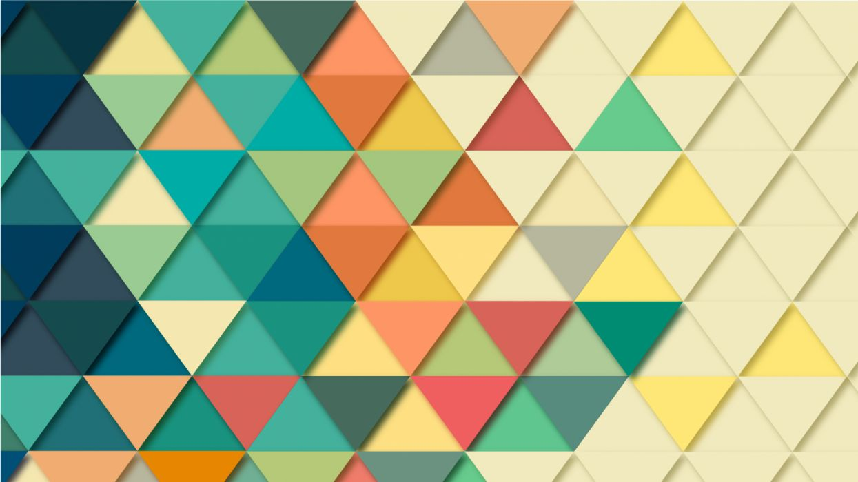 background triangles colored symmetric wallpaper