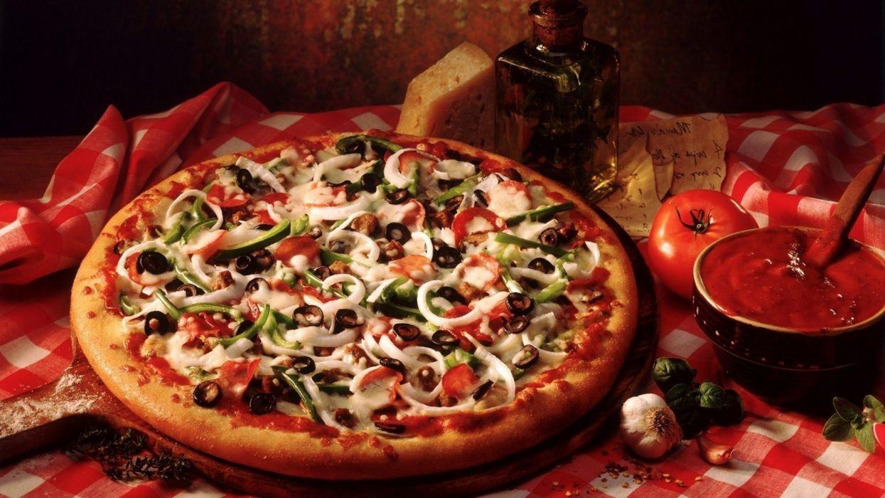 italian food pizza ingredientes wallpaper