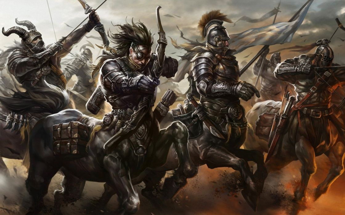 Mythology Artwork centaurs war arc wallpaper