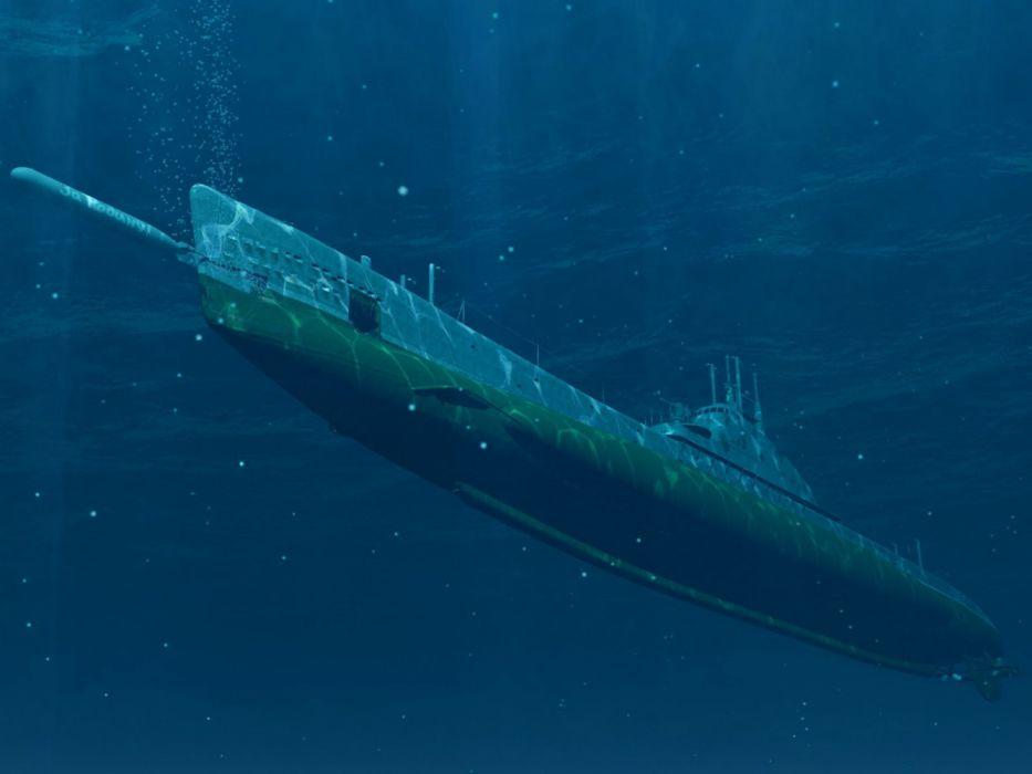 submarino bajo agua wallpaper