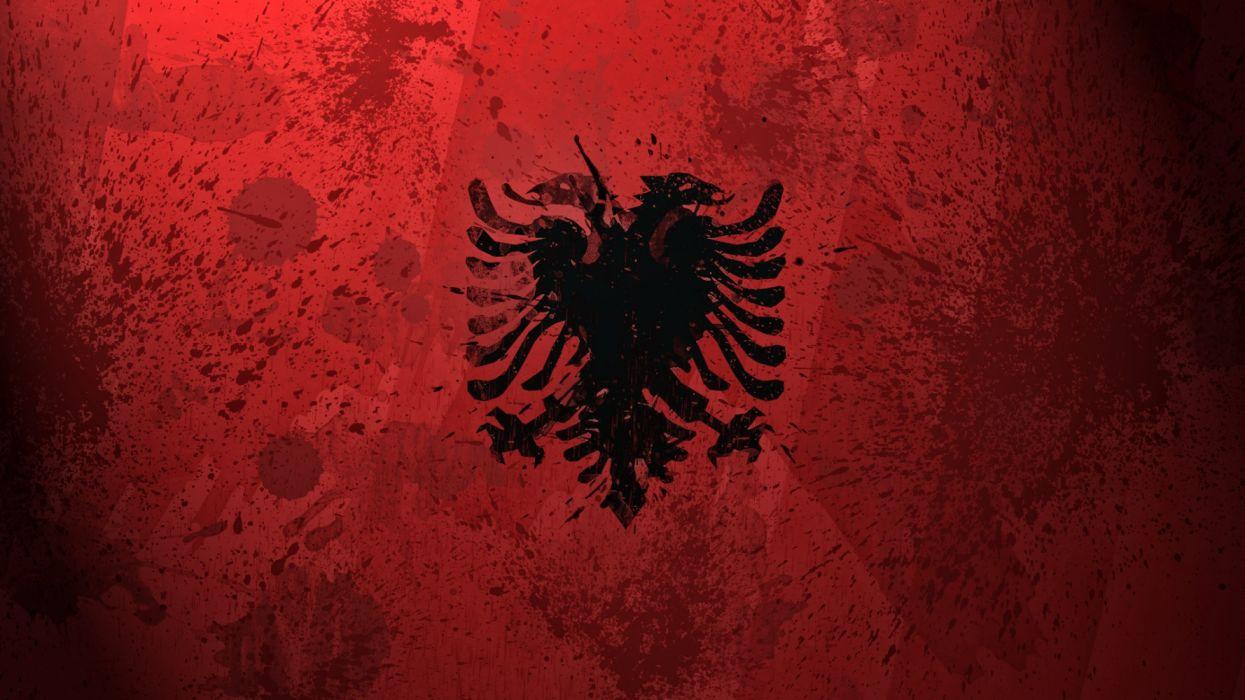 bandera albania europa wallpaper