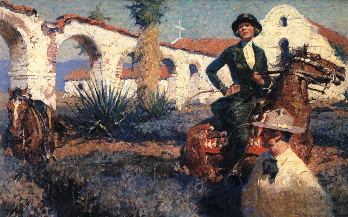 abstracto pintura arte mujer caballo wallpaper